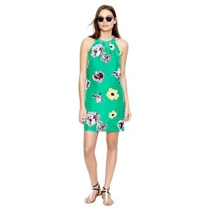 J. Crew Factory | Green Swoop Dress in Punk Floral